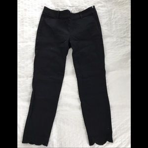 J Crew Winnie Scalloped Ankle Pants Size 2